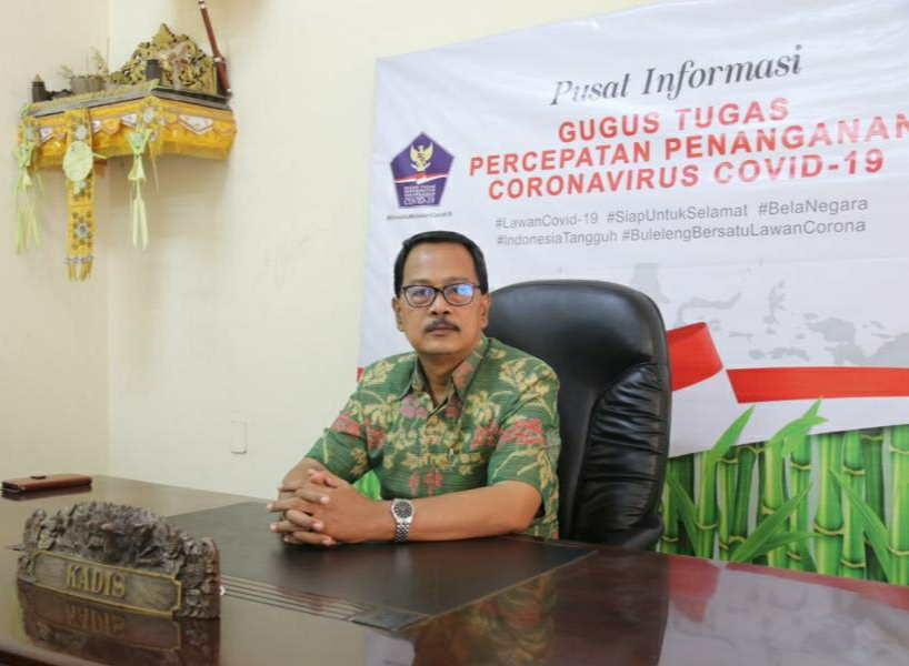 Koordinator Bidang Data dan Informasi Satuan Tugas Penanganan Covid-19 Kabupaten Buleleng Dr.Drs. I Ketut Suweca, M.Si