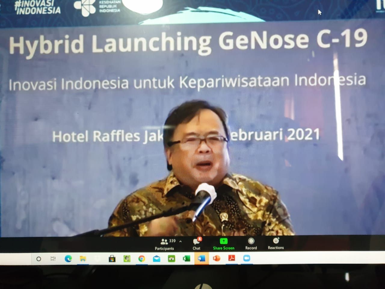 Menteri Riset dan Teknologi/Kepala Badan Riset dan Inovasi Nasional Bambang Brodjonegoro