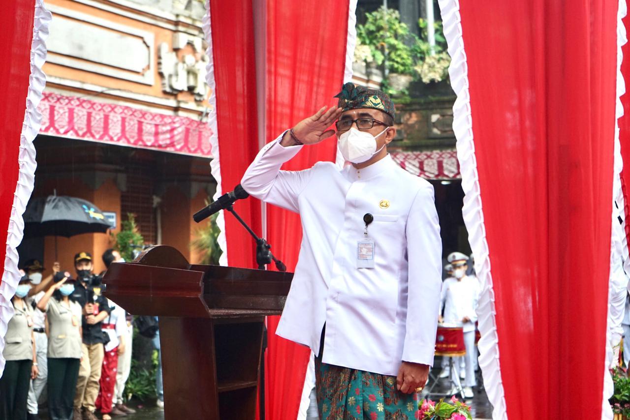 Inspektur Upacara, Wali Kota Denpasar, IGN. Jaya Negara