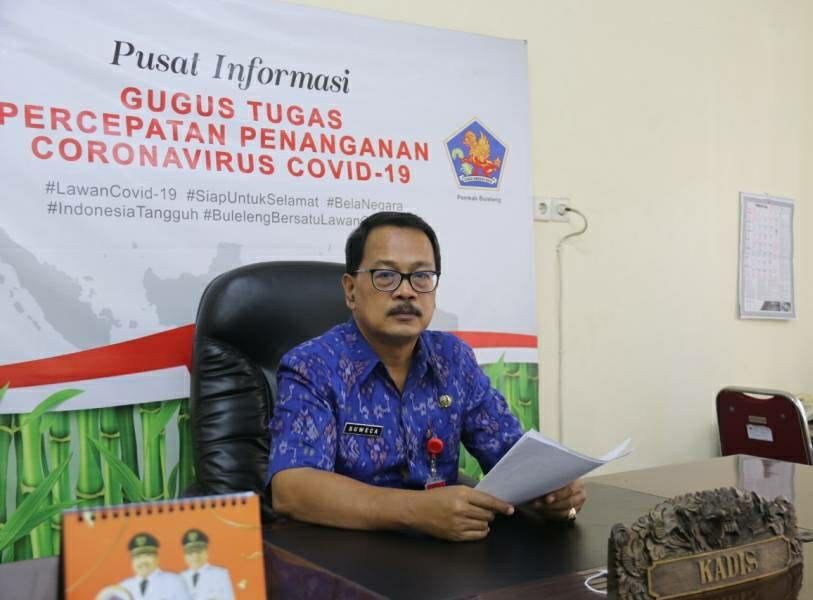 Koordinator Bidang Data dan Informasi Satuan Tugas Penanganan Covid-19 Kabupaten Buleleng, Dr.Drs. I Ketut Suweca, M.Si