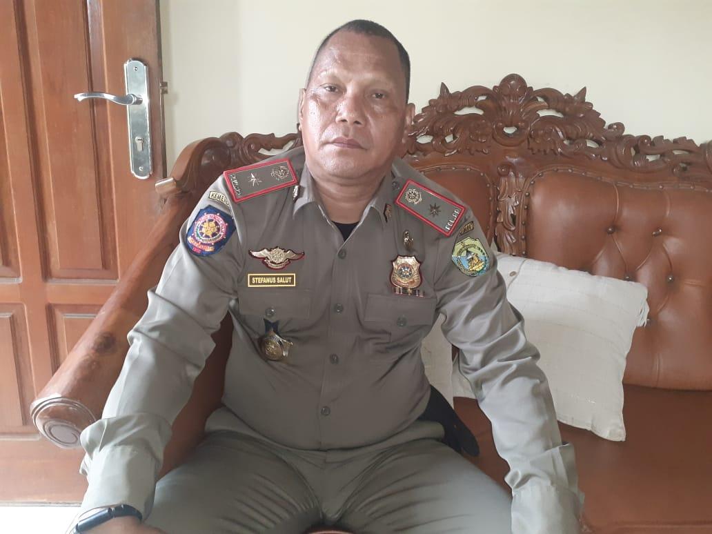Kepala Satuan Polisi Pamong Praja (Kasat Pol PP, red) Stefanus Salut