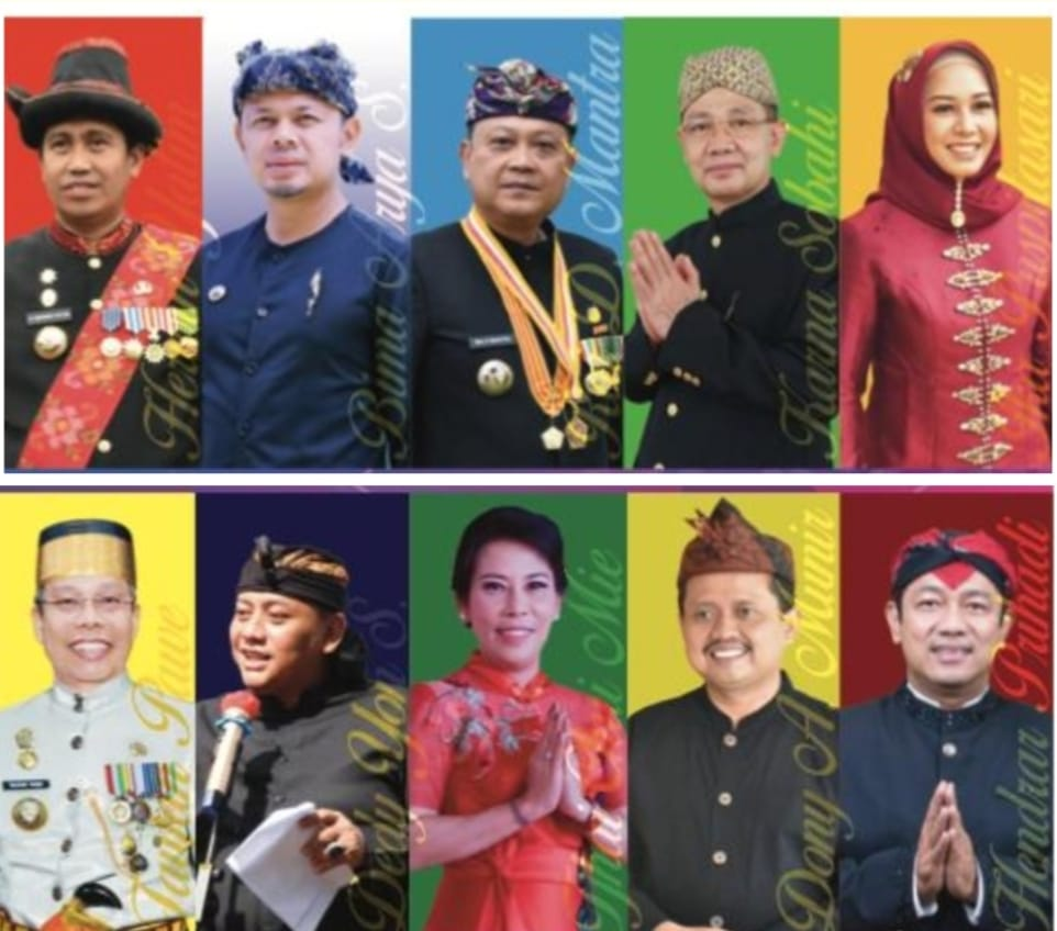 Sepuluh Bupati/Walikota Penerima Anugerah Kebudayaan PWI Pusat. Mereka punya strategi yang berbeda dalam memajukan kebudayaan daerahnya.