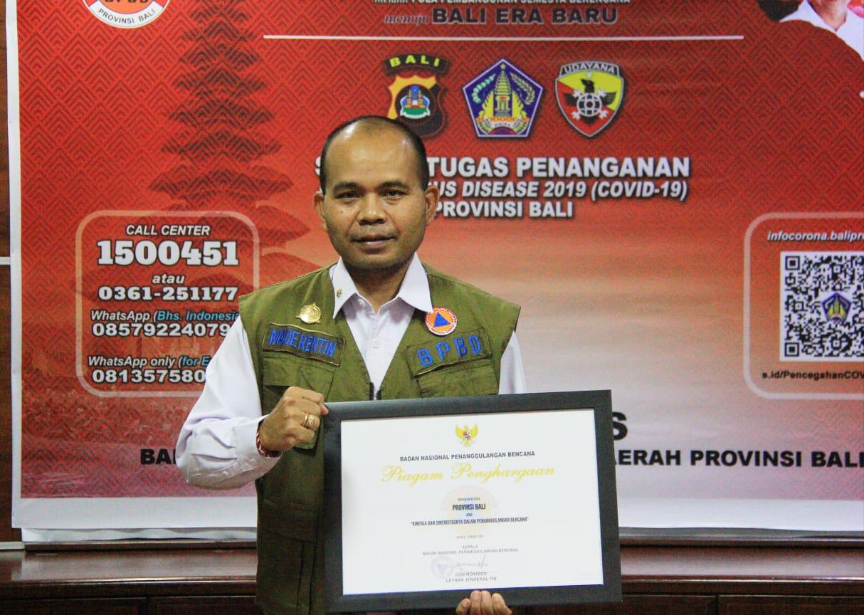 Kepala Pelaksana BPBD Provinsi Bali, Made Rentin