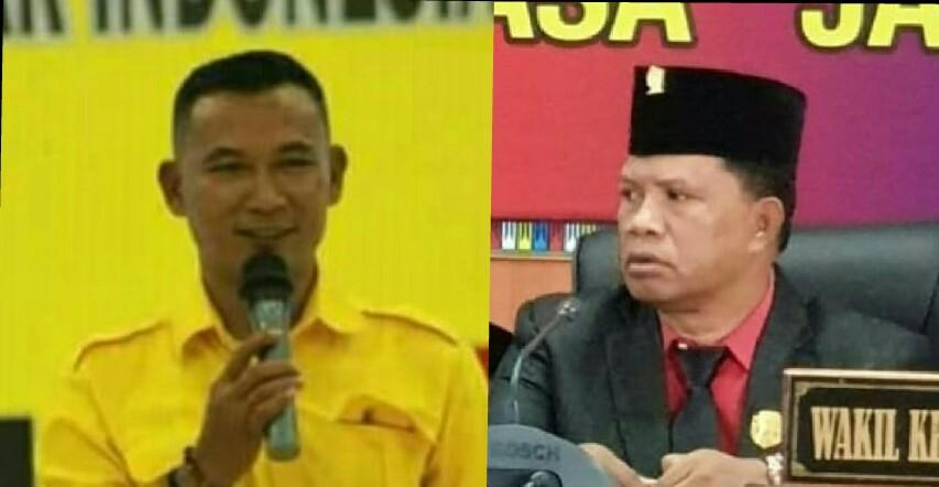Ketua PDIP Mabar, Darius Angkur dan Ketua Partai Golkar Mabar, Rofinus Rahmat.