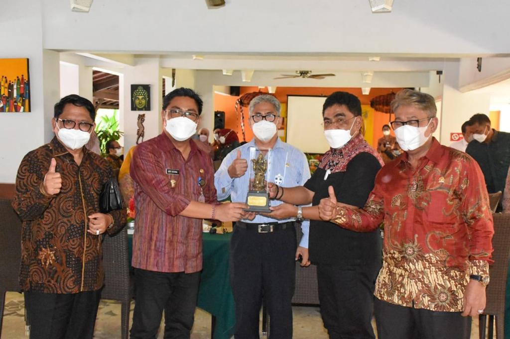 Wakil Walikota Denpasar, I Kadek Agus Arya Wibawa menerima kunjungan kerja spesifik Komisi X DPR RI di Kota Denpasar pada Jumat (26/3).