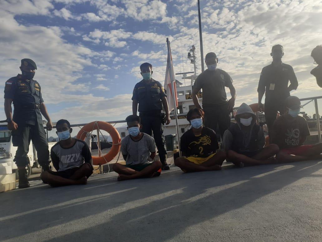 Para tersangka pelaku bom ikan ditangkap petugas