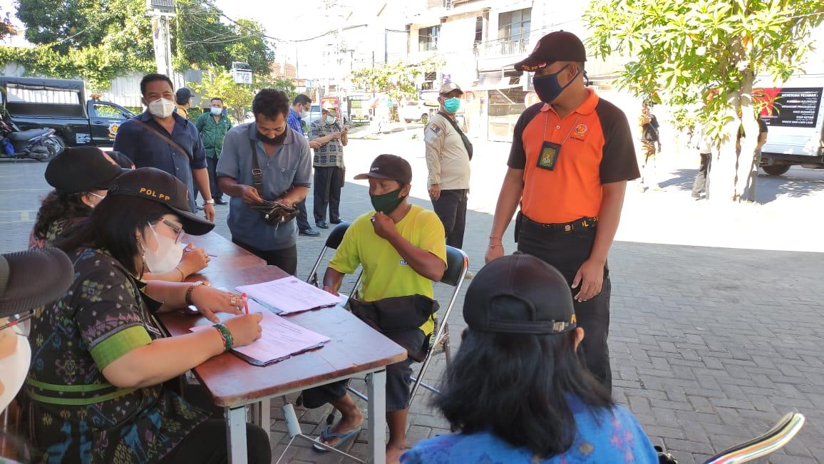 Para pelnggar Prokes dijaring Tim Yustisi Denpasar