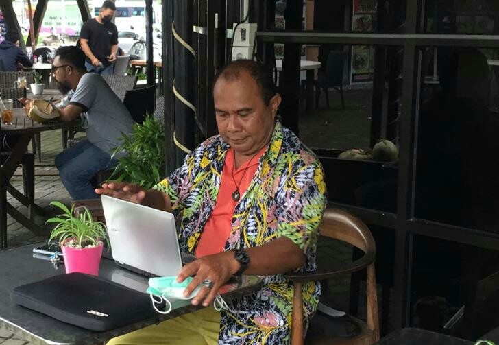 Ketua Panitia Penggalangan Donasi untuk Korban Bencana Alam NTT, Agustinus Apolo Daton