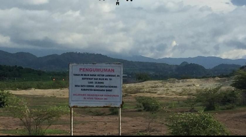 Lahan tukar guling tanah Bandara Komodo