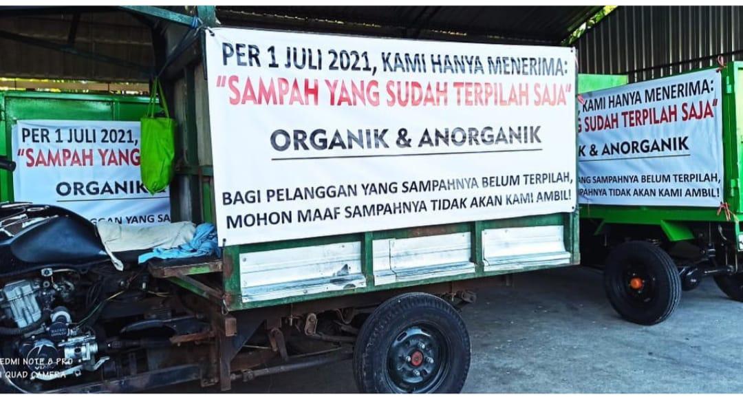 Pemilahan sampah organic dan non organic. (FOTO/Ist)