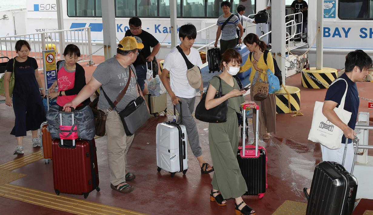Wisatawan Jepang.(FOTO/Ist)