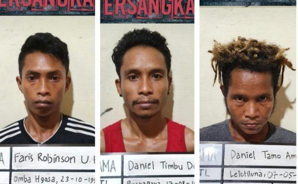 Tiga pelaku pengeroyokan ditangkap Polisi.